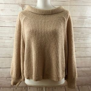 Free People Edessa  chunky knit ribbed sweater